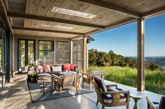 An Eclectic California Ranch Inspired by Nature Architectural Digest, California Ranch, California Wine, Destinations, Building A Porch, Outdoor Furniture Design, Exclusive Homes, Outdoor Seating Areas, Garden Seating