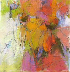 Summer's Flower, 14x14 pastel on paper by Debora L. Stewart www.deboralstewart.com