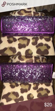 Selling this Purple & Silver Evening Clutch in my Poshmark closet! My username is: jiggaz31. #shopmycloset #poshmark #fashion #shopping #style #forsale #Handbags