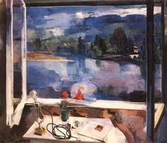 Reggel by Bernath Aurel Window View, Open Window, Window Art, Window Panes, Art Through The Ages, Through The Window, Jackson Pollock, Impressionist Paintings, Oil Paintings