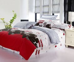 Mickey Mouse Bedding Bed in A Bag Gifts for Adults Girls Reversible Egyptian Cotton Full/Queen Duvet Covers Bedlinens Comforter  $75.99 - 110.99