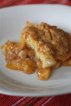 Peach cobbler - in the oven now and smells delicious! Can't wait to put a spoon in it!