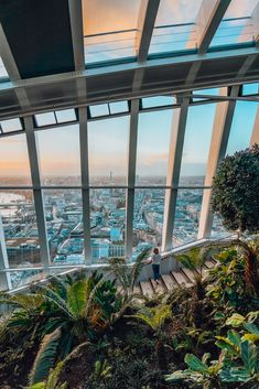 View over the rooftops of London from Sky Garden