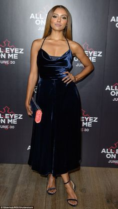Simply stylish: Kat Graham looked chic as she attended the European premiere of the hotly-discussed film in London on Tuesday night Vampire Diaries, Katerina Graham, Bonnie Bennett, Girl Celebrities, Cool Girl, Celebrity Style, Style Inspiration, Actresses, Stylish