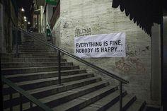 Méchant city graffiti.