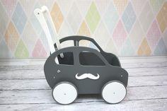 Wózek Auto Jeździk Drewniany__ Samochód Prezent  - montownia_zabawek - Samochody dla dzieci