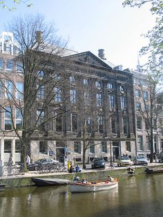 Kloveniersburgwal canal, Amsterdam - Rembrandt's important works done in this vicinity