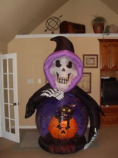 Buy Halloween Giant Inflatable Pumpkin With Rotating Eyes At Home Bargains Decor Ideas
