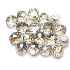 Czech Fire Polished Faceted Glass Round Crystal with Azuro Half Polish by Halcraft collection. Find it here at wholesale prices. Aqua Paint, Grey Paint, Beads Direct, Faceted Glass, Beading Supplies, Sale Items, Jewelry Making, Gems, Polish