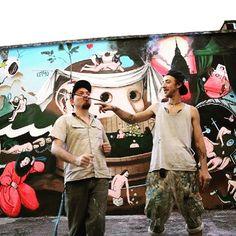 Urban Art Field - Mani Sporche sta cambiando l'aspetto di #Chivasso con la streetart: un progetto per sensibilizzare contro le mafie tutte. (Nella foto i lavori di Ozmo - su Instagram come @ozmone)  Foto: Repubblica Torino  #streetart #streetartist #ozmo #graffiti #urbanwalls #art #torino #painting by lacronacaitaliana