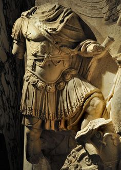 """Detail of the Apotheosis of Lucius Verus. Scene from a cycle """"Apotheosis"""" of the Parthian frieze from Ephesos. Dolomitic marble from Thasos. 186 x 163 cm. After 169 CE. I Vienna, Ephesos Museum. Ancient Rome, Ancient Greece, Ancient History, Ancient Aliens, Roman History, Art History, European History, American History, Roman Sculpture"""