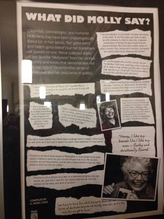 check out Molly Ivans - an amazing woman #quotes