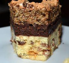 Pasca in trei straturi ~ Bucataria Irinei. Romanian Desserts, Romanian Food, Cake Cookies, Cupcake Cakes, No Bake Desserts, Dessert Recipes, Easter Pie, Torte Recepti, Pastry And Bakery