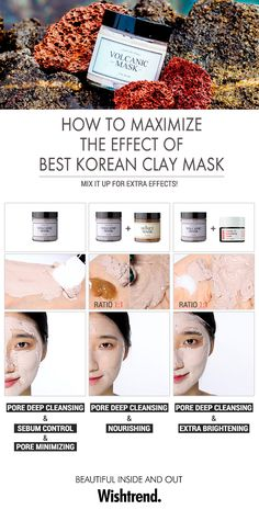 How to Maximize the Effect of I'M FROM Volcanic Mask. This all-in-one pore care mask not only cleanses, tightens and rejuvenates pores, but also effectively helps control sebum production. PLUS! If you are suffering from dry skin, mix this mask with the Honey Mask to experience nourishing effects. Or, if you want extra brightening and exfoliating effects, mix it with the Vitamin 75 Maximizing Cream! MIX IT UP for extra effects!