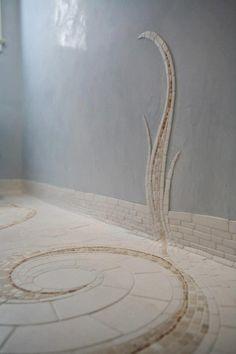 spiral mosaic....in walk in shower?