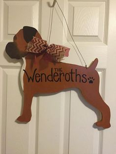 Boxer Dog Door Hanger by ArtsyFartsyCrafter on Etsy Boxer Love, Boxer Puppies, Cesar Millan, Dog Care, Diy Crafts To Sell, Dog Owners, Doge, Animals Beautiful, Wood Crafts