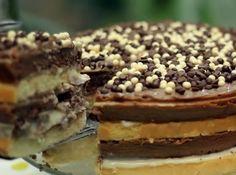 Bolo Dois Brigadeiros é duas vezes delicioso! #cake #chocolate #chocolat #bolo #brigadeiro #food #dessert #cybercook #2015