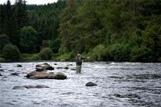 Fly fish the River Spey, birthplace of spey casting, in Scotland. They say fly fishing originated there.