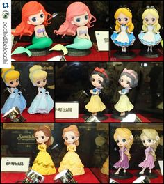 First LOOK at Disney Princesses Q Posket figurines! Omg these are adorable!!!!! I have a few Sailor moon Q posket and they are so cute and I'm so happy they are now doing Disney characters! I believe...