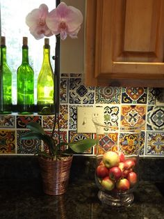 New kitchen tile backsplash diy stove ideas Mexican Tile Kitchen, Spanish Kitchen, Mexican Kitchens, Kitchen Backsplash, New Kitchen, Diy Kitchens, Mexican Tiles, Mexican Spanish, Awesome Kitchen