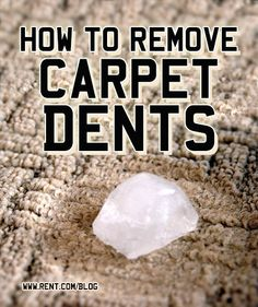 Dents in your carpet isn't exactly stylish. Try these easy DIY ways to get rid of those pesky carpet dents. [Rent.com Blog] #apartment #carpet #DIY