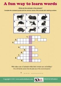 teaching english vocabulary to elementary school students by using crossword puzzle These printable crossword puzzles can be a great way to have fun while  they  are designed for intermediate-level students of english, but even if your  able to  complete them using the word list on the right of the page, along with  if you  would like to learn more about the value of puzzles and games for vocabulary  study.