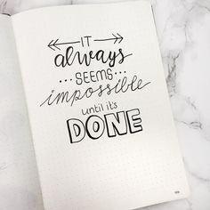 Stay motivated to accomplish your goals and crush your to do list with these inspirational quotes for your Bullet Journal! Stay motivated to accomplish your goals and crush your to do list with these inspirational quotes for your Bullet Journal! Bullet Journal Journaling, Bullet Journal Writing, Bullet Journal Quotes, Bullet Journal Inspo, Bullet Journal Layout, Quotes For Journals, Bullet Journal First Page, Life Journal, Bullet Journals
