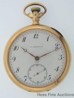 Genuine High Grade Vacheron Constantin Otto Wolf 14k Gold Mens Pocket Watch #VacheronConstantin