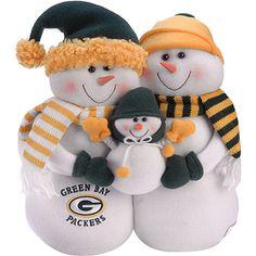 Tyler Xmas: Green Bay Packers Snowman Family