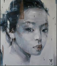 asian   portrait paintings | Shades of Asia - Contemporary Asian Oil Paintings : Buddhist Monks ...