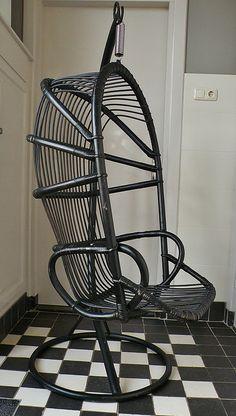 vintage hangschommel stoel