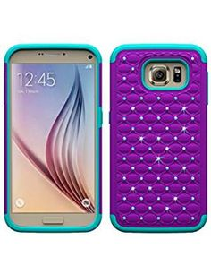 Hybrid Slim Armor Diamond Rugged Bling Case For Samsung Galaxy inch Luxury 2 in 1 PC+Silicon Mobile Phone Bag Playing Card Case, Galaxy S7, Samsung Galaxy, Best Handbags, Nice Handbags, Ladies Handbags, Wallets For Women Leather, Samsung Cases, Card Wallet