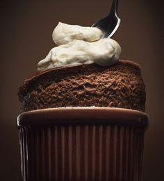 (via An Impressive Chocolate Dessert for Valentine's Day - Bon Appétit) No Bake Desserts, Just Desserts, Delicious Desserts, Dessert Recipes, Yummy Food, Yummy Treats, Sweet Treats, Chocolate Souffle, Chocolate Desserts