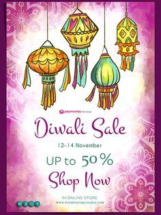 Dipawali sale upto 50% off on Recharge Portal Diwali Sale, Online Mobile, Portal, Software