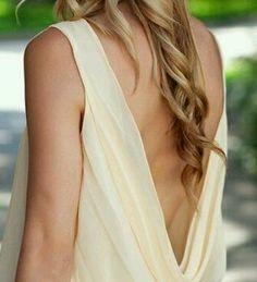 Open-back, draped top