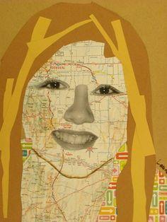 Cool Self-Portrait Lesson for my art kids :)