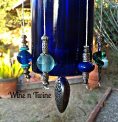 A personal favorite from my Etsy shop https://www.etsy.com/listing/257967380/recycled-wine-bottle-wind-chime