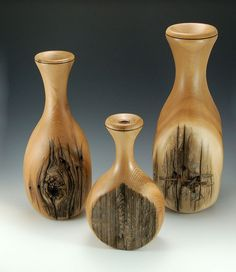 Cedar Fence Post Vases