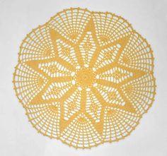 Rays of Hope Doily, crochet memories