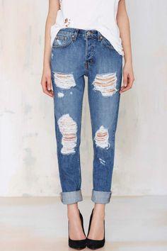 Nasty Gal Denim - The Ex Boyfriend #jeans #fashion