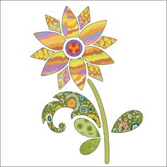 (7) Name: 'Quilting : Applique Add On's - Sunflower