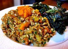 "Farro ""Risotto"" with Red Kuri Squash and Leeks   Tasty Kitchen: A Happy Recipe Community!"