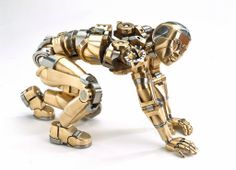 MAKE: fully articulated machined figurines