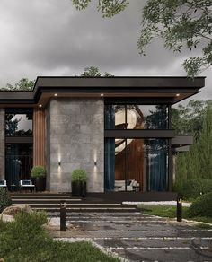 Modern House Facades, Modern Architecture House, Architecture Design, Classical Architecture, House Outer Design, House Front Design, Home Building Design, Building A House, Modern Villa Design