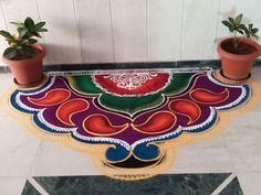 Rangoli designs are the traditional way to get welcome of all festivals. Here we collected 15 best Sanskar Bharti rangoli designs for this diwali Happy Diwali Rangoli, Easy Rangoli Designs Diwali, Indian Rangoli Designs, Rangoli Designs Latest, Simple Rangoli Designs Images, Rangoli Designs Flower, Free Hand Rangoli Design, Rangoli Border Designs, Small Rangoli Design