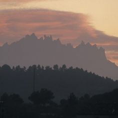Profile of the mountain of Montserrat in Catalonia.