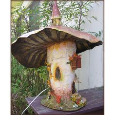 Side View-The Mushroom House by Iva's Creations, via Flickr