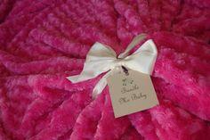 The ULTIMATE In Luxury A Fuchsia Swirl Minky Bedding / Throw Blanket by BundleMeBaby, $95.00