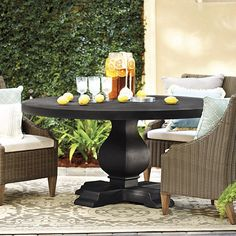 Palermo Dining Table- round patio table from Ballard