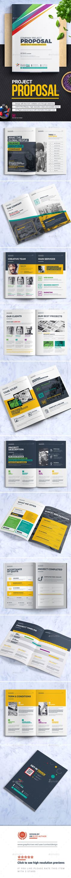 Proposal Template Vector EPS, InDesign INDD, AI Illustrator - marketing proposal templates